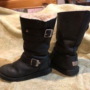 Ugg Australia Kensington leather sheepskin boots